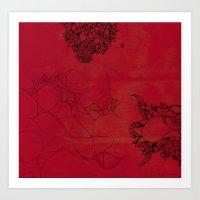 Creatures In Red Art Print