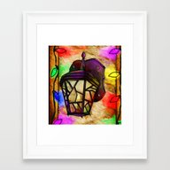 Lantern Holiday Digital … Framed Art Print