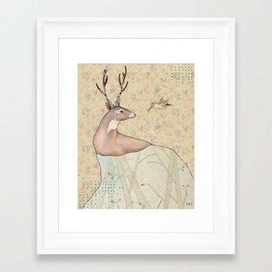 ...tener un bosque dentro. Framed Art Print