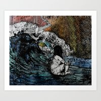 Crawled Out Of The Sea  Art Print