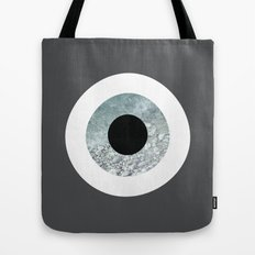 Grey sea evil eye Tote Bag