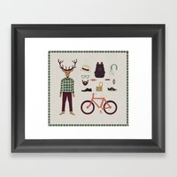 Deer Boy Framed Art Print