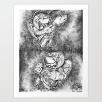 Petite Astronauts  Art Print