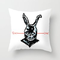 Donnie Darko: FEAR • FRANK • LOVE Throw Pillow