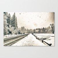 Yosemite Snowy Meadow Canvas Print
