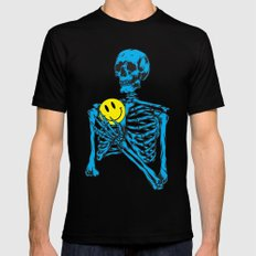 Skeleton Mens Fitted Tee Black SMALL