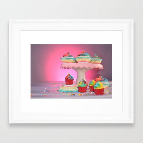 cupcakes in studio Framed Art Print