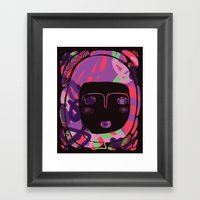 Protect_BLACK Framed Art Print