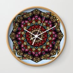 Angel Window Kaleidoscope Wall Clock