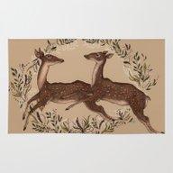 Jumping Deer Rug