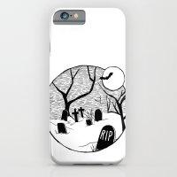Halloween graveyard iPhone 6 Slim Case