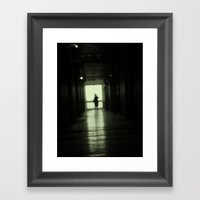 Blur play Framed Art Print