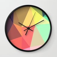 Wall Clock featuring Peace by Contemporary