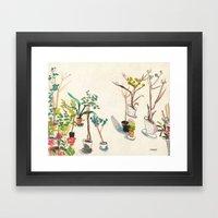 Potted Plants Framed Art Print