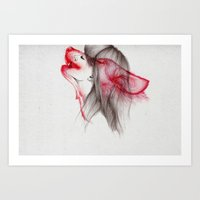 eye Art Prints featuring Wildlife by The White Deer