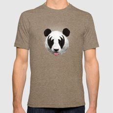 Kiss of a panda Mens Fitted Tee Tri-Coffee SMALL