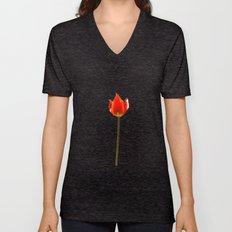 Red Tulip Unisex V-Neck