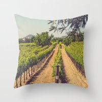 Vineyards 3 Throw Pillow