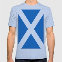 Flag of Scotland Mens Fitted Tee Athletic Blue SMALL