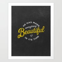 BEAUTIFUL IN TIME Art Print