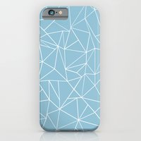 Abstraction Outline Sky Blue iPhone 6 Slim Case