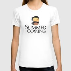 Summer is Coming Womens Fitted Tee White SMALL