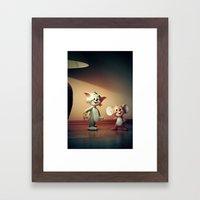 Tom And Jerry Framed Art Print