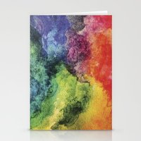 Rainbow Tie Dye Watercolor Stationery Cards