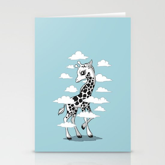 Wandering Giraffe Stationery Card
