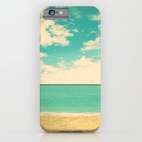 iPhone & iPod Case featuring Retro Beach by AC Photography