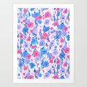Flower Field Lilac Blue Art Print