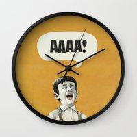 AAAA! (Golden) Wall Clock