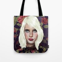 Young Girl and Flowers (Emma Roberts) Tote Bag