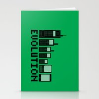 Cell Phone Evolution Stationery Cards