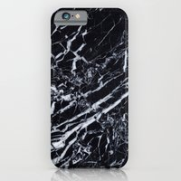 iPhone Cases featuring Real Marble Black by Grace