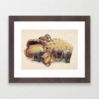 Elephant's Paradise Framed Art Print