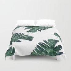 Banana Leaf Watercolor Pattern #society6 Duvet Cover