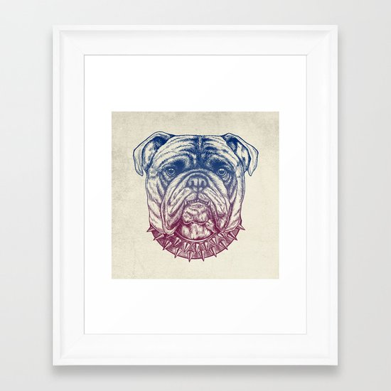 Gritty Bulldog Framed Art Print