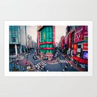 Tokyo Structures Art Print