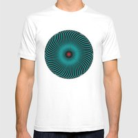 Circle Study No. 419 Mens Fitted Tee White SMALL