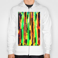 paint pattern 2 (red yellow & orange & green & blue) Hoody