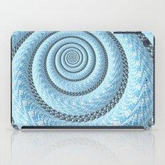 Spiral in Light Blue iPad Case