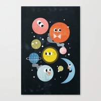 Happy Planets Canvas Print