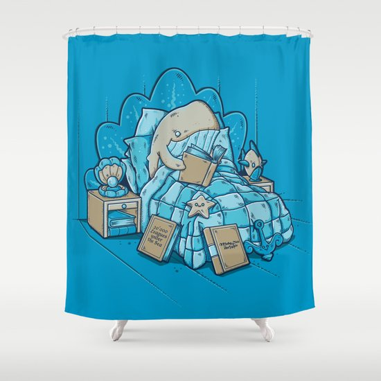 LATE NIGHT READINGS Shower Curtain