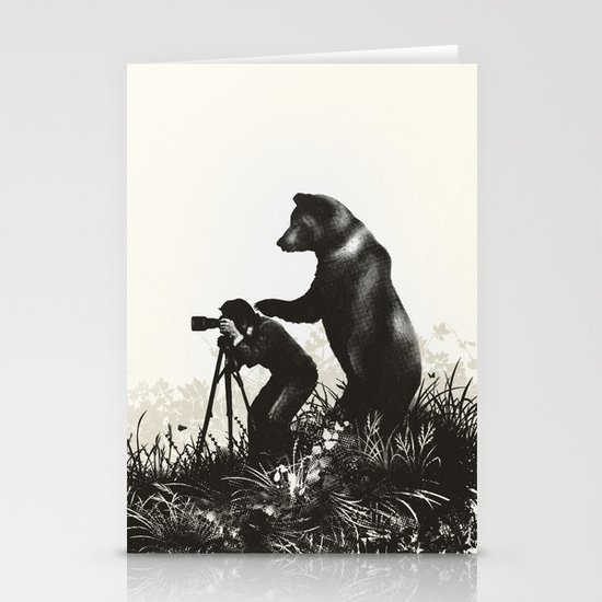 The Bear Encounter II Stationery Card