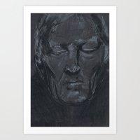 Portrait Of Man With Eye… Art Print