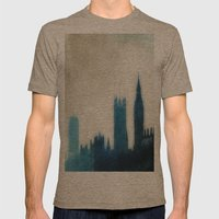 The Many Steepled London Sky Mens Fitted Tee Tri-Coffee SMALL