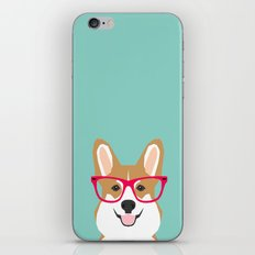 Teagan Glasses Corgi Cut… iPhone & iPod Skin