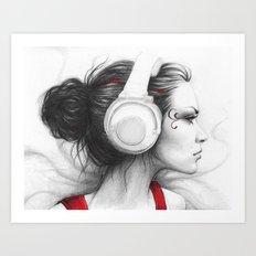 MUSIC - Pencil Portrait … Art Print