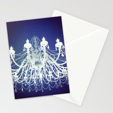 Chandelier | Black and White Photography | Romantic, Sparkly, Dreamy Light Stationery Cards